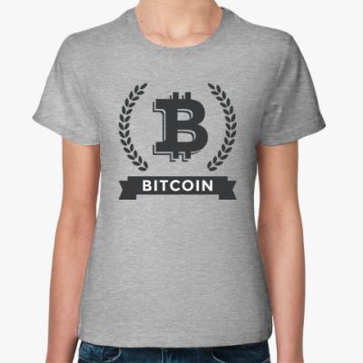 Женская футболка Bitcoin - Биткоин