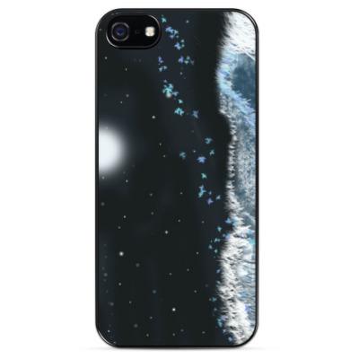 Чехол для iPhone Ночь в серебряном поле