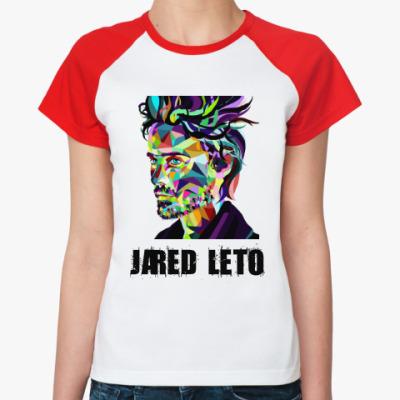 Женская футболка реглан Jared Leto