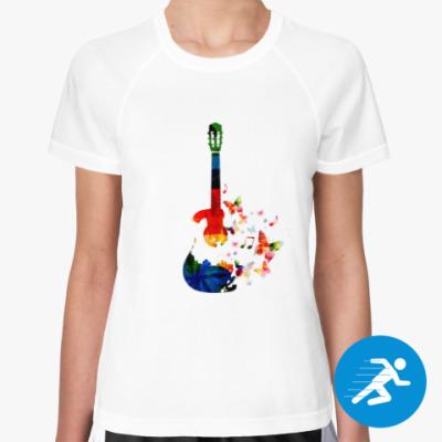 Женская спортивная футболка Гитара