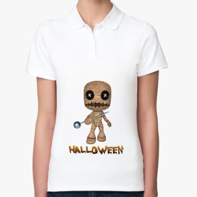 Женская рубашка поло Хеллоуин
