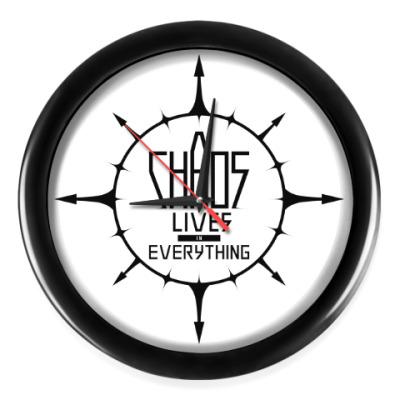 Настенные часы Chaos lives in everything