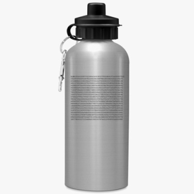 Спортивная бутылка/фляжка Число «Пи» до тысячного знака