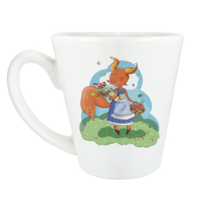 Чашка Латте Белка - садовница