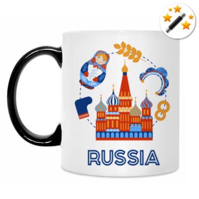 Кружка-хамелеон Russia, Россия