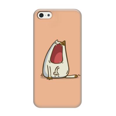 Чехол для iPhone 5/5s Зевокот — Пятничный Котик №28