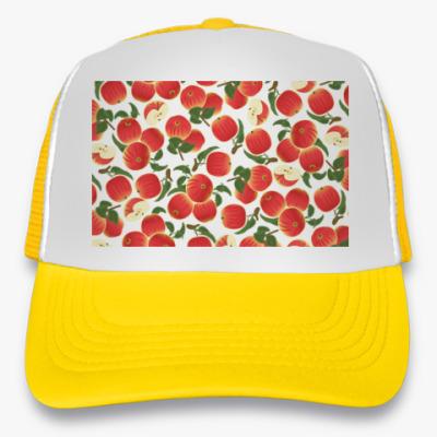 Кепка-тракер яблочки