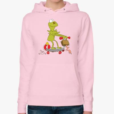 Женская толстовка худи Kermit the Frog