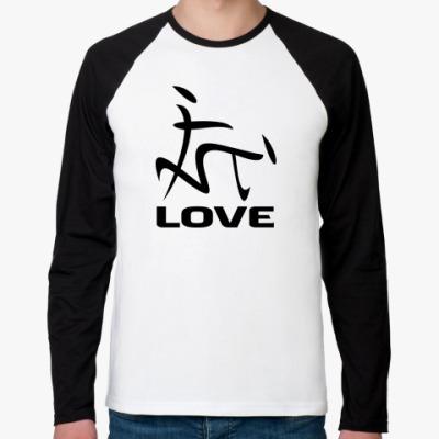 Футболка реглан с длинным рукавом Love