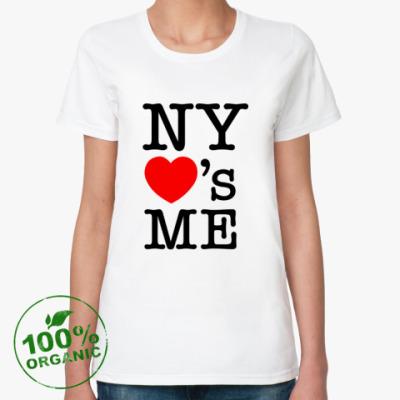 Женская футболка из органик-хлопка New York Loves Me