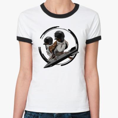 Женская футболка Ringer-T Птицы воробьи-истребители