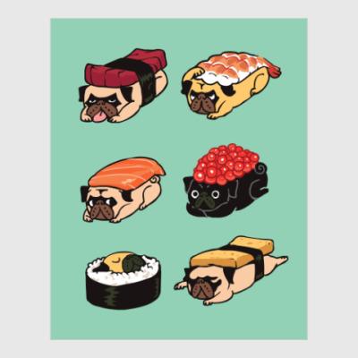 Постер Суши мопс