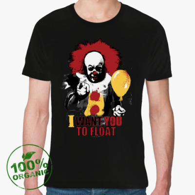 Футболка из органик-хлопка Clown It by Stephen King