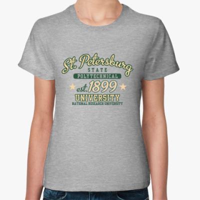 Женская футболка Питерский политех