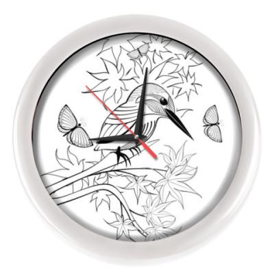 Настенные часы Любопытная птичка