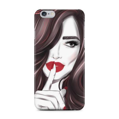Чехол для iPhone 6 Plus лицо девушка губы взгляд волосы старое кино тише