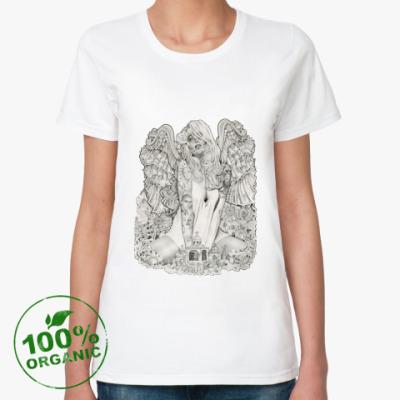 Женская футболка из органик-хлопка Money Angel