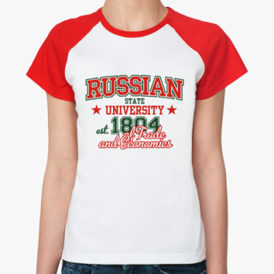 Женская футболка реглан РГТЭУ