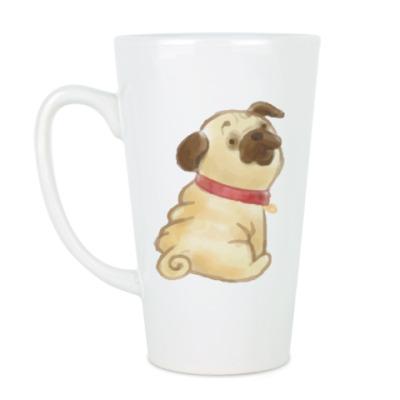 Чашка Латте Мопс Pug