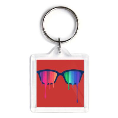 Брелок Хипстер: очки