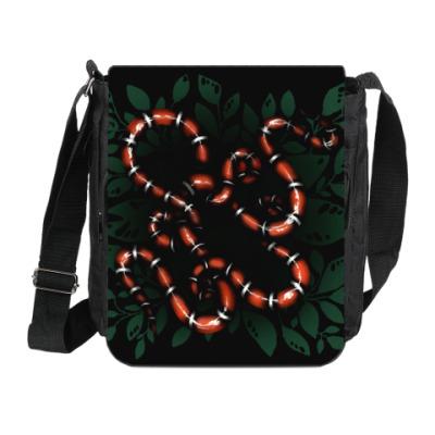 Сумка на плечо (мини-планшет) Snakes