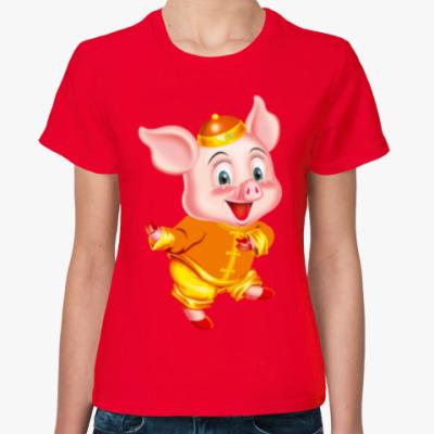 Женская футболка PIG YEAR