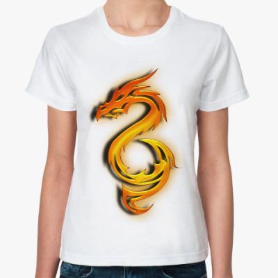 Классическая футболка Огненный дракон