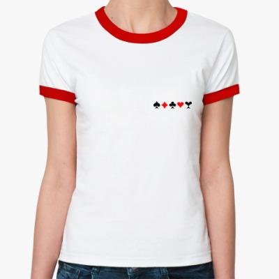 Женская футболка Ringer-T Будь готов! Всегда!