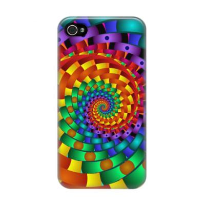 Чехол для iPhone 4/4s Радужный вихрь
