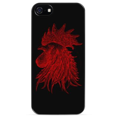 Чехол для iPhone Красный петух символ Года