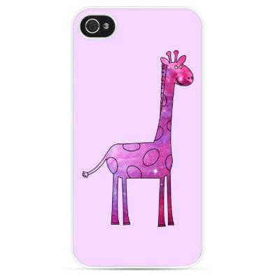 Чехол для iPhone Космический Жираф