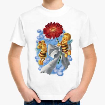 Детская футболка Пчёлки и цветок