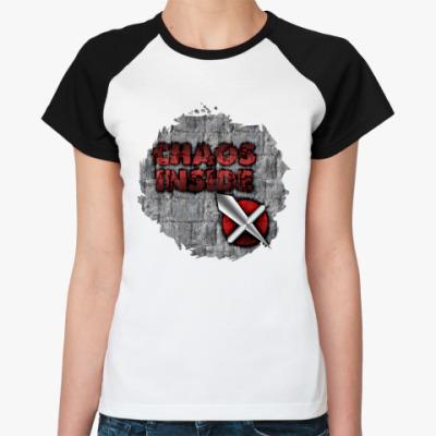 Женская футболка реглан  (жен,Noir,F002)