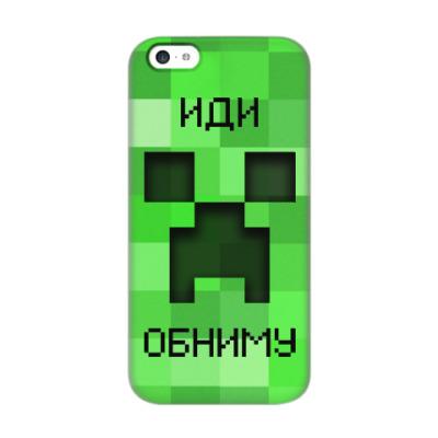 Чехол для iPhone 5c Иди Обниму Minecraft Creeper