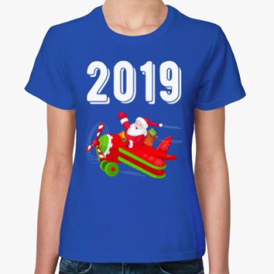 Женская футболка Flying Santa