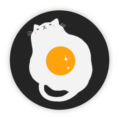 Костер (подставка под кружку) Кот-яичница