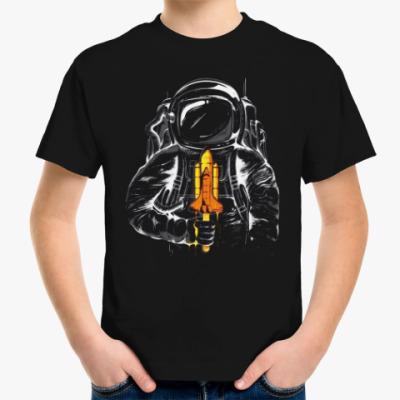 Детская футболка Космонавт с леденцом