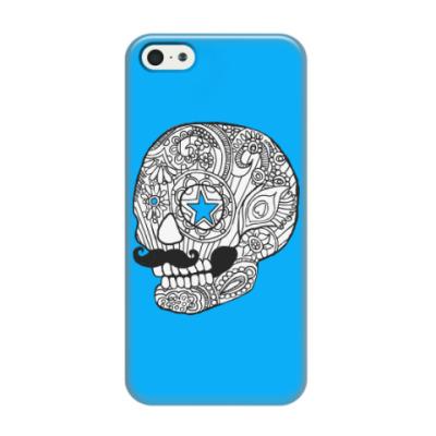 Чехол для iPhone 5/5s Череп с усами