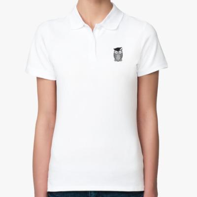 Женская рубашка поло Умная сова