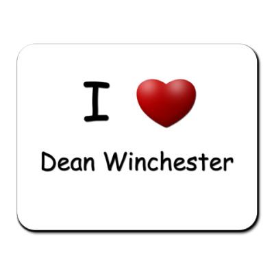 Коврик для мыши  I Love Dean
