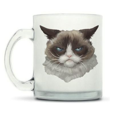 Кружка матовая Grumpy Cat / Сердитый Кот