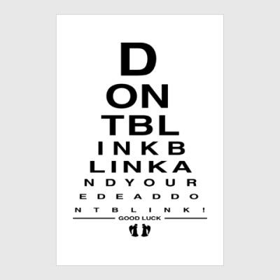 Постер Don't Blink