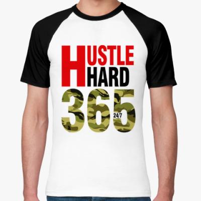 Футболка реглан Hustle HARD 365