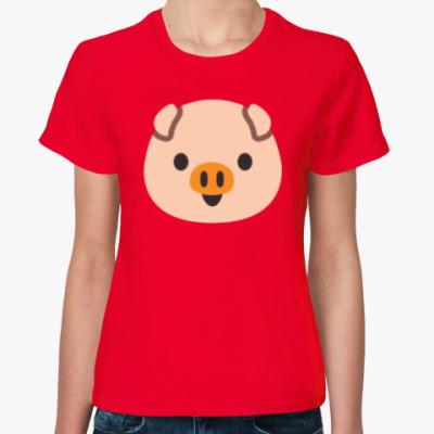 Женская футболка Funny Piggy