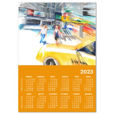 Календарь Улица Нью Йорка