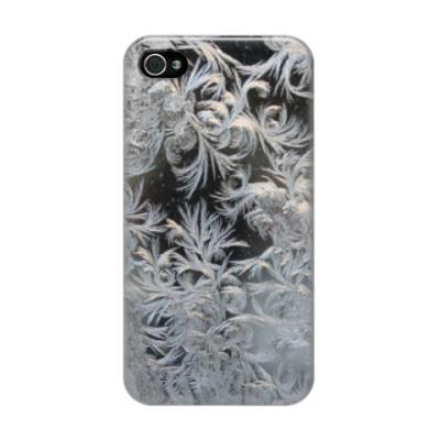 Чехол для iPhone 4/4s морозный узор