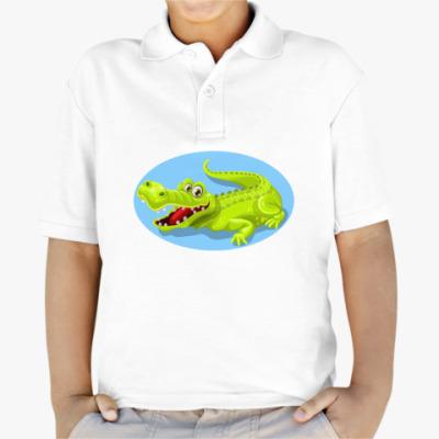 Детская рубашка поло Супер Кроко
