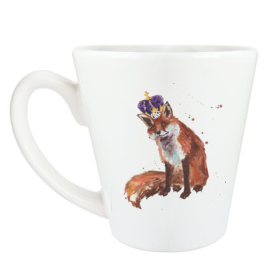Чашка Латте Aquarelle Royal Fox