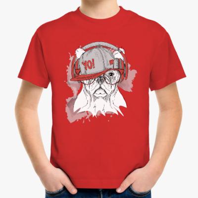 Детская футболка Собака в наушниках