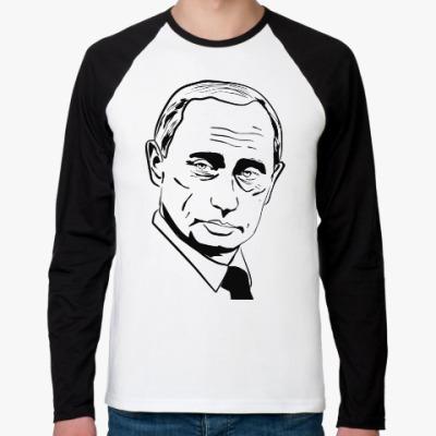 Футболка реглан с длинным рукавом Владимир Путин